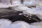 Flowing Winter Scenery