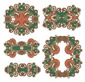 five ornamental floral adornment
