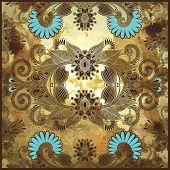 flower design on grunge background