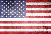 Flag Of The United States Of America with Grunge Effect