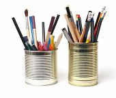 Upcycling, Writing Accessories In Cans