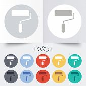 Paint roller sign icon. Painting tool symbol.