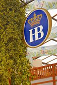 Hofbrau Sign And Hops