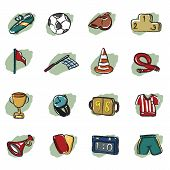 Abstract Soccer Icon