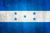 National Flag Of Honduras. Grungy Effect.