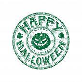 Halloween grunge rubber stamp