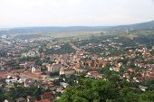 Panorama of the Romanian city bird's-eye view.