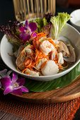 foto of green papaya salad  - Traditional dish of freshly prepared Thai food - JPG