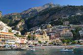 Picturesque view of village Positano, Italy