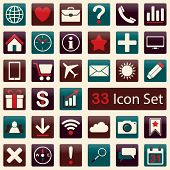 Set of icons for mobile app and web