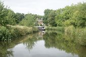 Canal And Narrowboat