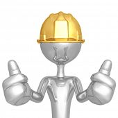 Construction Worker Two Thumbs Up