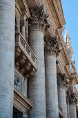 The facade of the Cathedral of St. Peter in the Vatican