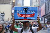 Anti-fracking sign from California