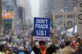 Don't Frack US! sign