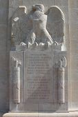 Inscription on American WW1 monument, Sommepy, France