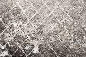 Dark Gray Old Concrete Wall With Notching, Background Texture