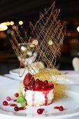 Fresh Cream And Berry Desert