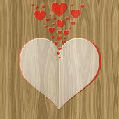 Love Letter Relief Painting On Generated Wood Texture Background
