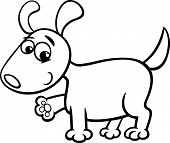 Dog Puppy Cartoon Coloring Page