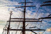 Mast of a sailboat no sail up