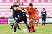 Sisaket Thailand-september 21: Sarayuth Chaikamdee Of Sisaket Fc. In Action During Friendly Match Be