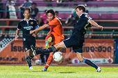 Sisaket Thailand-september 21: Piyawat Thongman Of Sisaket Fc. Shooting Ball During Friendly Match B