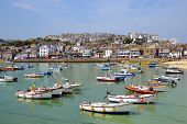 stock photo of st ives  - St Ives harbour in  Cornwall England UK - JPG