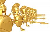 stock photo of hoplite  - Spartan Phalanx - JPG