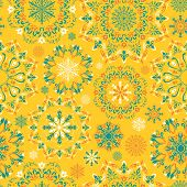 Vector yellow snow pattern