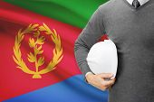 pic of eritrea  - Architect with flag on background  - JPG
