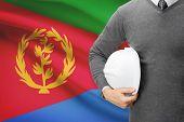 Architect With Flag On Background  - Eritrea