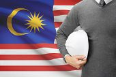 Architect With Flag On Background  - Malaysia