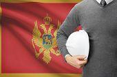 Architect With Flag On Background  - Montenegro