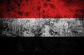 grunge flag of Yemen with capital in Sanaa