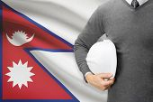 Architect With Flag On Background  - Nepal