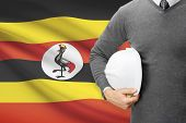 Architect With Flag On Background  - Uganda