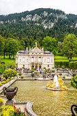 Linderhof Palace With Fountain