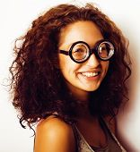 bookworm, cute young woman in glasses