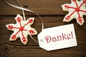 Christmas Star Cookies With Danke