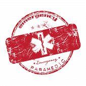 Emergency grunge rubber stamp