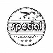 Special grunge rubber stamp