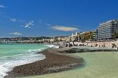 Beach And  Promenade Des Anglais, Nice