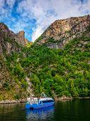 Ship In Fjord