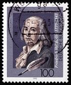Postage Stamp Germany 1993 Friedrich Holderlin, German Writer