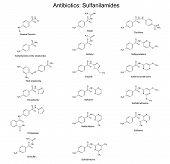 Structural Chemical Formulas Of Sulfanilamide Antibiotics