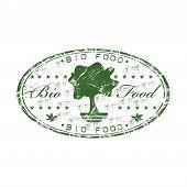 Bio food rubber stamp