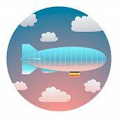 Airship Detailed Illustration