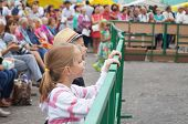 Mstyora,russia-august 16,2014: Children Beside Fences Look Concerto At Day Of The City