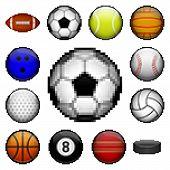 Pixel sports balls